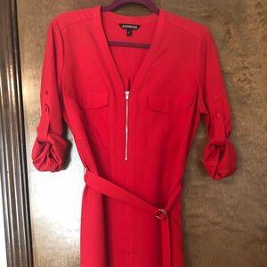 BEAUTIFUL Red Shirt Dress